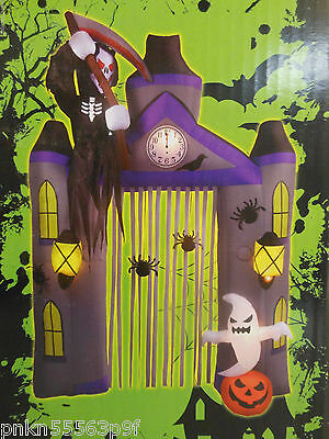 NEW Gemmy 9 ft 6 in  HALLOWEEN ARCHWAY Airblown Lighted GRIM REAPER Inflatable