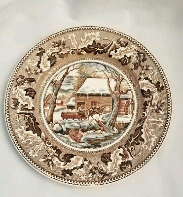 Johnson Brothers Historic America Thanksgiving FROZEN UP Dinner Plate, Turkey