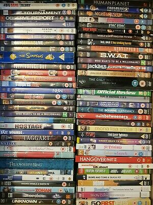 120 DVDs  WITH SCRATCHES  BUT STILL PLAYABLE JOBLOT BUNDLE