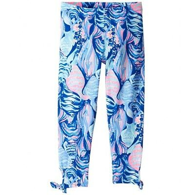 NWT Lilly Pulitzer Girls Maia Legging Twilight Blue Scale Up Size L
