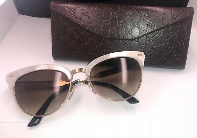 e818323fd916 Gucci GG4283S Cat Eye Mother of Pearl/Gold Frame Sunglasses 55 18 140