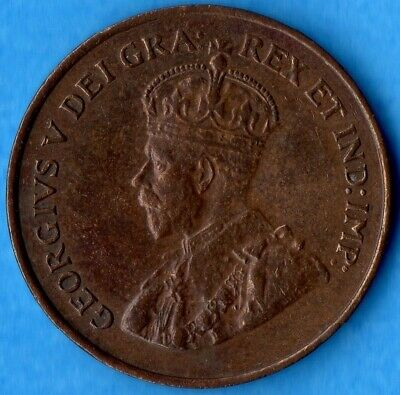 Canada 1927 1 Cent Small Penny Coin - EF (cleaned)