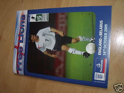 Free Lions Fanzine Issue 98 England v Belarus Oct 14th 2009