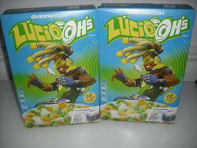 LOT OF 2 Overwatch Lucio Oh's Sonic Vanilla Flavored Cereal 10.1 oz exp.OCT. 03