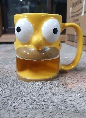 Universal Studios The Simpson's Homer Ceramic 3D Mug with Biscuit Holder