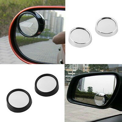 2 X Driver Side Wide Angle Round Convex Car Auto Rear View Mirror Blind Spot Dq