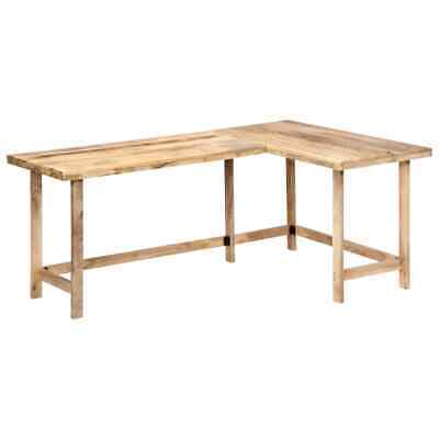vidaXL Bois de Manguier Massif Bureau Table d'Ecriture Table d'Ordinateur