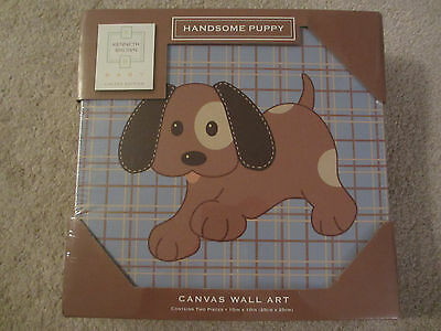 ☀️ NEW Kenneth Brown Handsome Puppy Canvas Wall Art Limited Edition 2-Pack 63110
