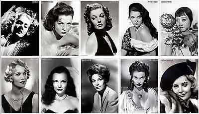 Print & Sell 850 High Quality Vintage Hollywood Movie Actress Portraits