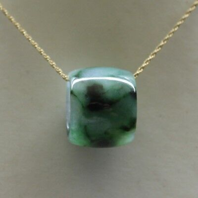 25.1ct * Certified Grade A Natural Icy Green Jadeite JADE Cylinder Pendant
