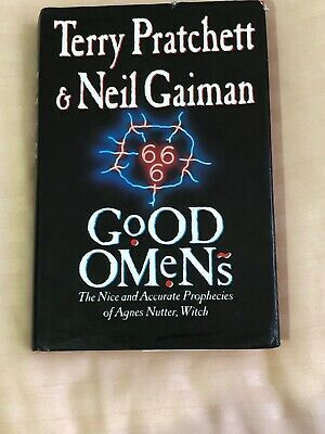 GOOD OMENS  Signed NEIL  Gaiman And TERRY  Pratchett 1st EDITION 1900 HBDJ