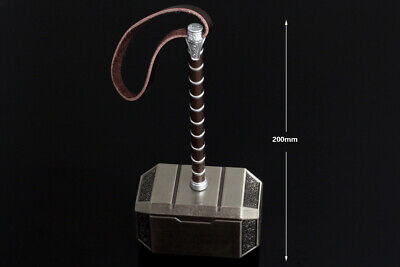 Avengers Thors Hammer Cosplay Costume Weapon Replica Mjolnir Prop Metal 20cm