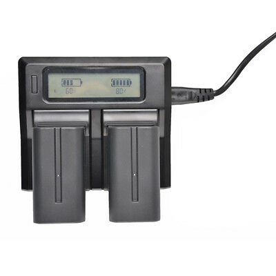 Super Rapid Charger LCD Dual Charger For Sony NP-F970 F960 F950 F770 F550