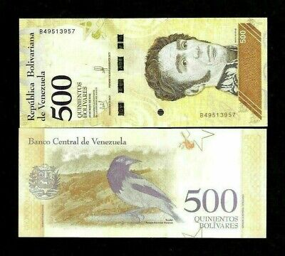 Venezuela 500 Bolivares New 2018 X 100 Pcs Lot 1 Bundle Soberanos Unc Bird Note