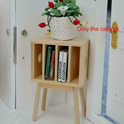 Small Wooden Bookcase & Books Dolls House Miniatures Scale Study Schoo 1.12 N1J8