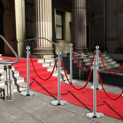 2pcs Queue Rope Barrier Stand Velvet Rope Stanchion Posts Isolation Railing Line