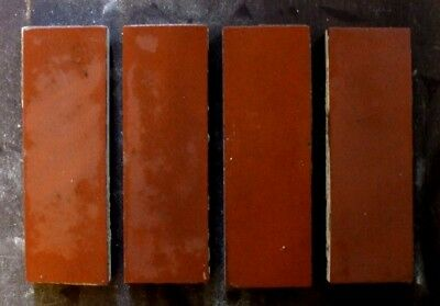 """Antique Victorian Geometric Hall Floor Terracotta Tile Red 6""""x2"""" 1 of 376"""