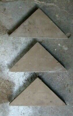44x Antique Victorian Minton Hall Floor Tiles Taupe TRIANGLE 4x3x3  £3.50 each