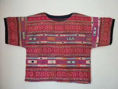 Thai cotton top. Gorgeous colours; woven and patchwork pieces with such detail.