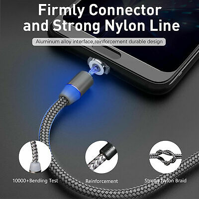 Magnetic USB Charging Sync Data Cable Micro USB for Samsung Huawei Xiaomi