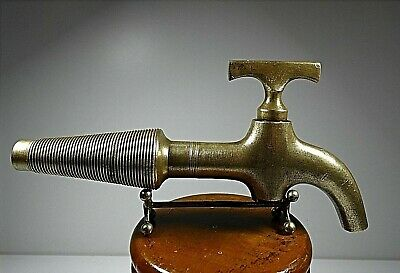 Architectural Salvage Antique Solid Brass Tap Faucet Nº4