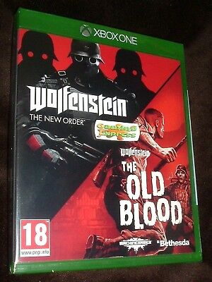 Wolfenstein Double Pack The New Order / Old Blood XBOX ONE XB1 NEW SEALED