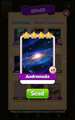 Coin Master Cards Space Andromeda . Fast Delivery