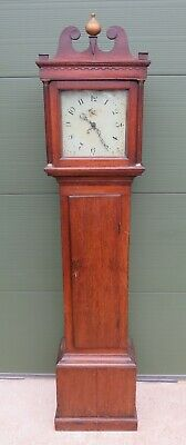 Antique Georgian Oak Long-Case Grandfather 30-Hour Clock - Needs TLC