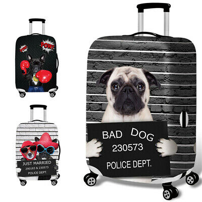 High Elastic Luggage Cover Trolley Protective Case Stretchy Cute 3D Dog Durable