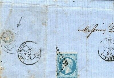 FRANCE RAILWAY MAIL 1859 Cover *Bordeaux-Toulouse* TPO Letter {samwells}CG212
