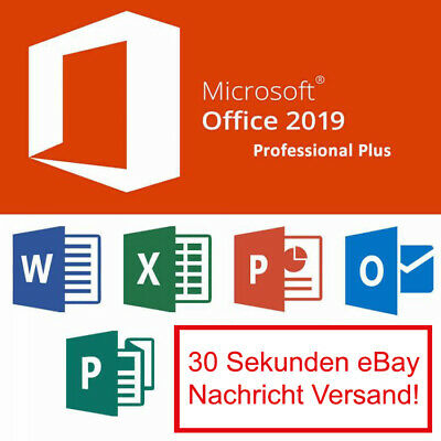 MS Microsoft Office 2019 Professional Plus Vollversion Download Key 32/64 BIT