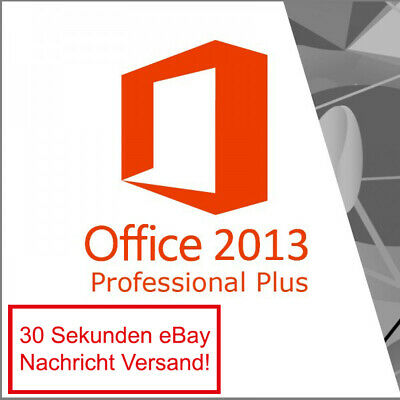Microsoft Office 2013 Professional Plus Vollversion Software Lizenz E-Mail Pro
