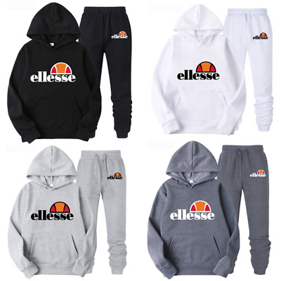 Ellesse hommes survêtements ensembles Hoodie Top Jogging molleton Sweatershirt