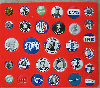 Group of 58 Old political Pinbacks