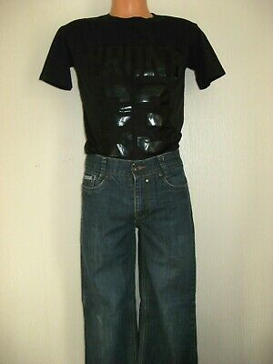 Worn Once Boys Ted Baker Blue Jeans & Black Short Sleeve Fashion Top Age 12-13