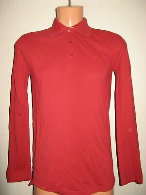 Worn Once Boys Lovely Bright Red Hugo Boss Long Sleeve Polo Shirt Age 14-15-16