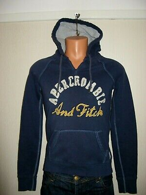 Hardly Worn Boys Mens Blue Abercrombie & Fitch Hooded Jacket Hoodie Age 14-15-16