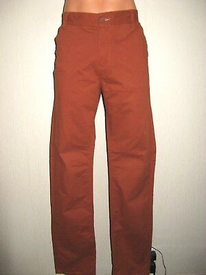Worn Once Boys Rust Brown Next Classic Fit Leg 100% Cotton Chino Trousers Age 16