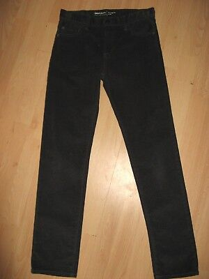 Worn Once Boys Regular Fit Grey Gap Slim Fit Slim Leg Corduroy Jeans Age 13/14