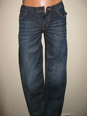 Worn Once Boys Dark Blue Antony Morato Classic Fit Straight Leg Jeans Age 13/14