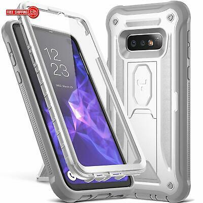 YOUMAKER Case for Galaxy S10e, Kickstand Case with Built-in Screen Protector Hea