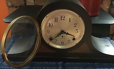Antique Seth Thomas Mantle Clock Sentinel #2, Mahogany, With Pendulum