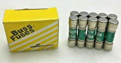 NEW Buss FNQ-15 Fuses (LOT OF 10)