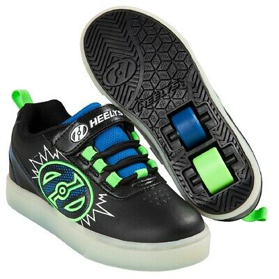 Heelys X2 POW Unisex Lighted Two Wheel Sneakers Roller Skate Shoes Kids HE100014