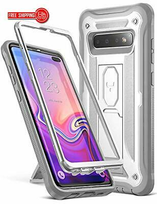 YOUMAKER Kickstand Case for Galaxy S10+ Plus, Heavy Duty Protection Full Body Sh