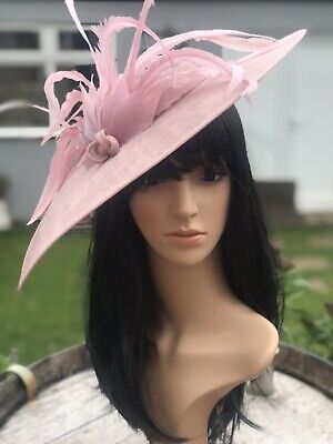 NIGEL RAYMENT DUSKY PINK WEDDING DISC FASCINATOR Mother Of The Bride Hat