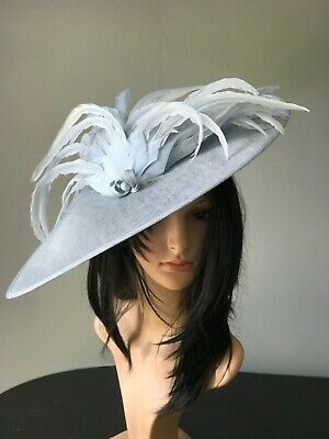 NIGEL RAYMENT PALE BLUE WEDDING DISC FASCINATOR Mother Of The Bride OCCASION Hat