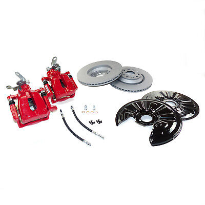 Bremsanlage hinten rot 310mm VW Golf 5 6 GTI Scirocco R Audi A3 8P S3 RS3 TT 8J