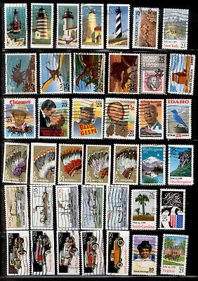 US Stamp 25 Cent Used Lot 1988-1991
