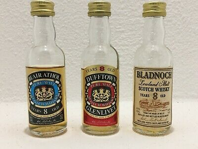 ! 3 Whisky House Of Bell's Blair Athol Bladnoch Mini Miniaturflaschen Miniaturen